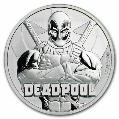 2018 Tuvalu Marvel Comic Series 1 oz Silver Deadpool Coin - Gem Bu