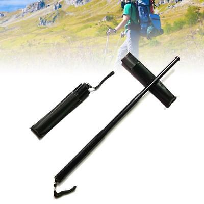 Self-Defense Three Sections Telescopic Sticks Retractable Outdoor Whip Black
