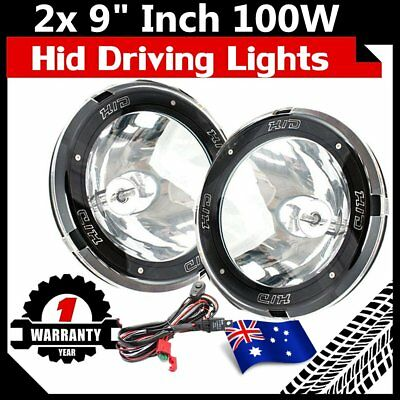 "2x 9"" Inch 12V 100W Hid Driving Lights Xenon Spotlight Offroad 4Wd Truck SUV OP"