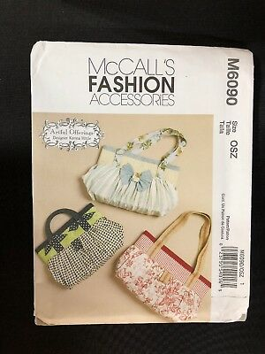 2010 McCall's Sewing Pattern M6090 Bags Karina Hittle Uncut