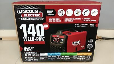 Lincoln Electric140 Amp Weld Pak 140 HD MIG Wire Feed Welder with Magnum 100L