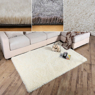 Cosy Fluffy Silky Shaggy Rugs Soft Furry Thick Non Shed Floor Area Carpet Mat UK
