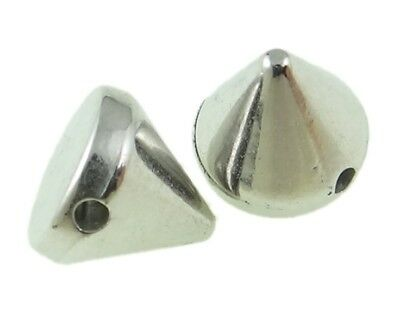 400 CCB SPIZT Gothic Punk KILLERNIETEN ZIERNIETEN SPIKE  6mm SILBER TOP 4-600