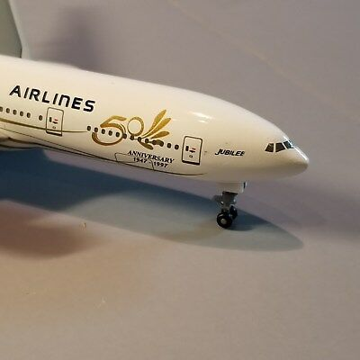 "Dragon Wings Singapore ""jubilee"" 777-200 1:400 Scale Diecast Metal Model"