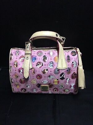 Disney Dooney Bourke Pink Canine Dogs Satchel Crossbody Bag  NEW NWT
