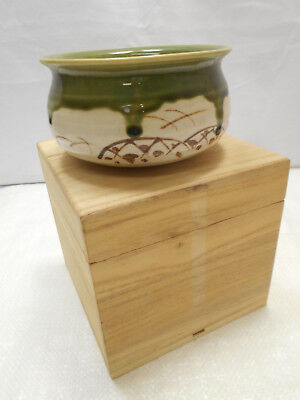 Japanese Tea Ceremony Pottery Bowl Chanoyu Traditional Vintage Marked #157