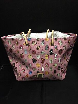 Disney Dooney Bourke Pink Canine Dogs Carry-all Shoulder bag Tote  NEW NWT