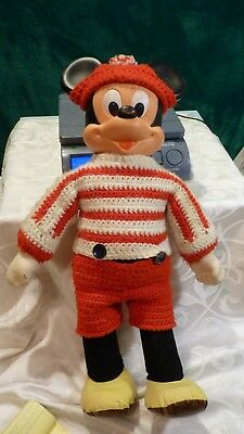 "VINTAGE Disney MARCHING MICKEY MOUSE Walking 19"" Doll Toy Hasbro Romper Room"