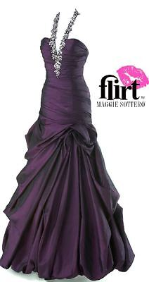 Maggie Sottero $449 Flirt Prom 6 Amethyst Pageant Formal Quinceanera Gala Dress