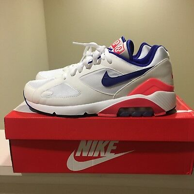 Nike Air Max 180 ULTRAMARINE WHITE SOLAR RED BLUE 615287-100 US9 90 95 270