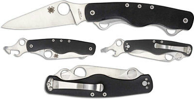 Spyderco C208GP ClipiTool Standard Multi-Function Folder, Black G10 Handles NEW
