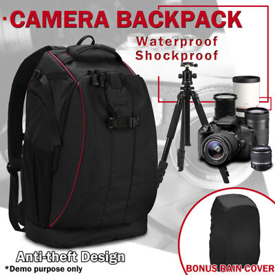 Digital Camera Backpack Waterproof Case Cover SLR DSLR Fit For Canon+Nikon+Sony