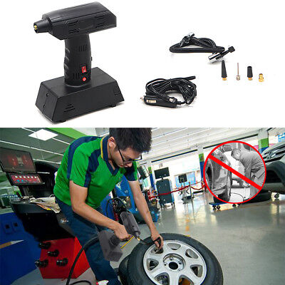 12V Tyre Inflator Portable Car Bike Air Compressor Pump Automatic Handheld Gauge