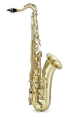 Tenor Saxophone Brass Sax Brushed Matt Lacquered Tune Bb including Case