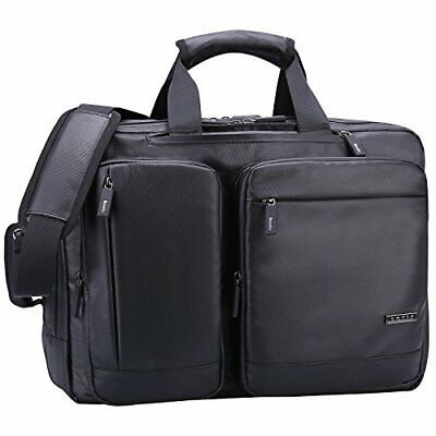 Ronts Convertible Briefcase Backpack Multifunctional Waterproof 17 Inch Laptop C