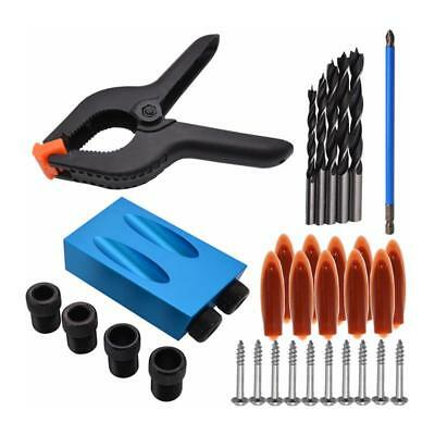 34pcs Pocket Hole Jig Step Drill Bit Puncher Woodworking For Kreg Joinery Tool