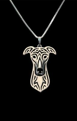 Greyhound Pendant Necklace Jewellery Collectable Gift with Chain - Silver