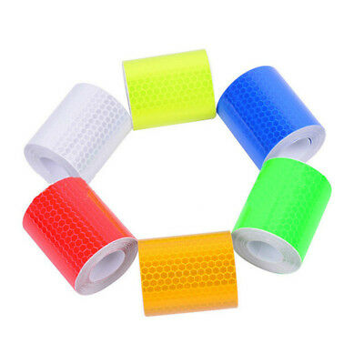 300cm Car Safety Warning Reflective Tape Roll Reflector Sticker Decal 6 Color