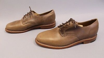 6518412e1f2 Oak Street Bootmakers Men s Natural Plain Toe Blucher Shoes TW4 Brown Size  11D
