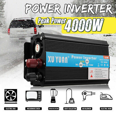 3000W 4000W 5000W Car Solar Power Inverter DC12V to110V 220V AC USB Fast Charger