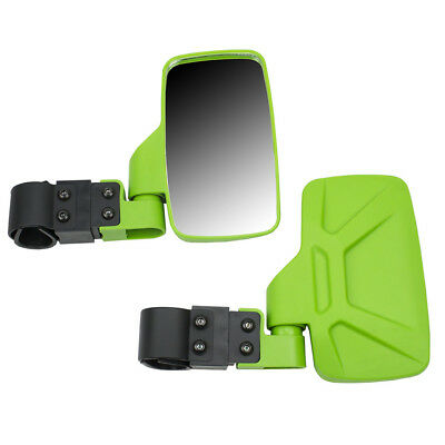 Green Side View Mirror Set UTV Offroad High Impact Break-Away Large Wide View