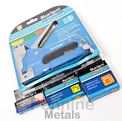 BlueSpot Heavy Duty 3-Way STAPLE GUN - Staple Remover