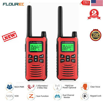Walkie Talkie Transceiver 2-Way Radio 22 Channel FRS/GMRS 5000M Gift for Child