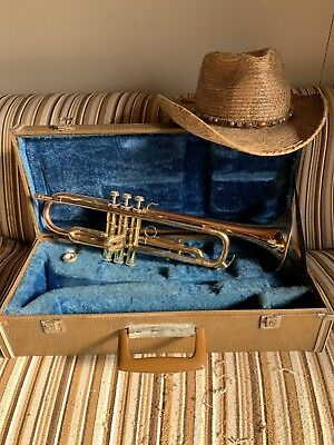 FREE shipping RED BELL Imperial YAMAHA YTR-332 trumpet USED on instagram movie.