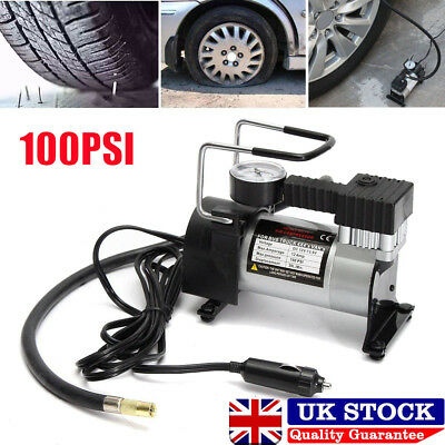 12V Car Air Compressor 100Psi Tyre Deflator Portable Inflator Pump Heavy Duty