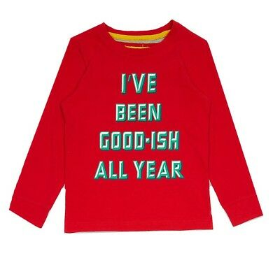Ex Marks and Spencer Kids Boys Christmas Cotton Pyjama Top 12-18months (P100.21)