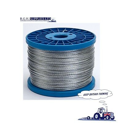 Hotline Electric Fencing P22 Galvanised Multi 7 Strand Fencing Wire 200m Roll