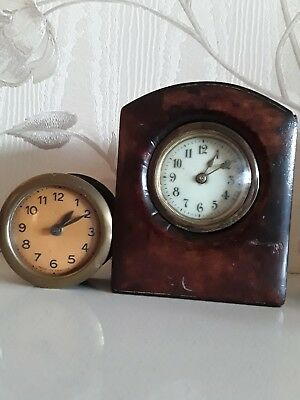 Two Small vintage clocks  one french one kienzle main picture left french