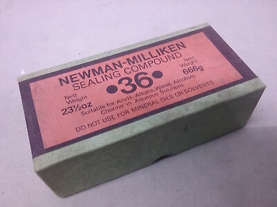 Genuine Newman-Milliken Sealing Compound Valve Lubrication Pumps Pipes England
