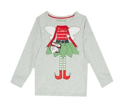 Ex Marks and Spencer Kids Girls Elf Pyjama Top 3-4 Years (P100.24)