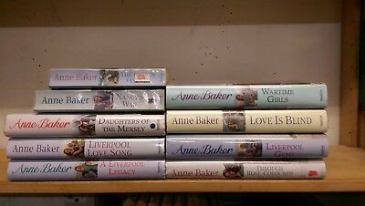 ANNE BARKER: job lot box collection of 9 adult fiction books