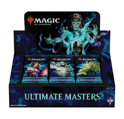 MTG Ultimate Masters booster box with Ultimate Box Topper
