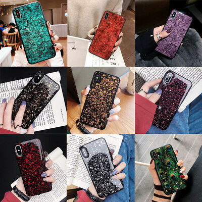 Crystal Marble Christmas Cover Shell For iPhone XR XS MAX 6s 7 8 Plus Case Burst