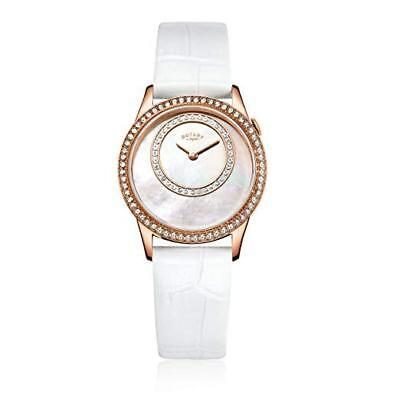 afeb0fa4b1f2 Rotary LS00654 07 Ladies Rose Gold Tone   Mother of Pearl Dial Watch RRP £