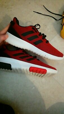 Red Adidas Trainers Size 4