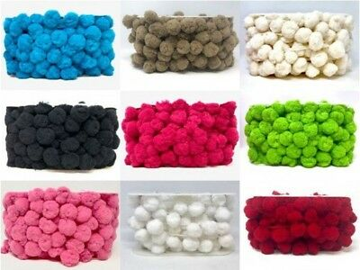 Jumbo 36mm Pom Pom Trim 10 Colours Great Quality This item is sold by the Metre
