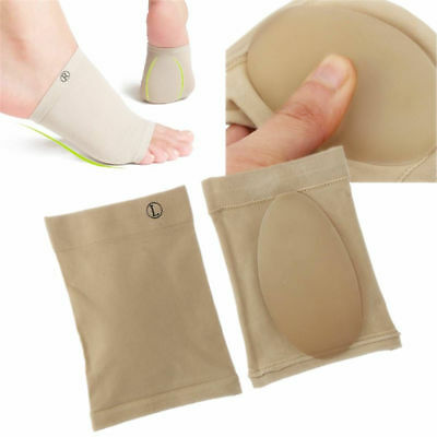Silicone Gel Arch Spurs Support Cushion Flat Feet Foot Care Pain Relief Pads