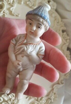 German Victorian fairing Bisque china Peeing Weeing Doll novelty risque Figure