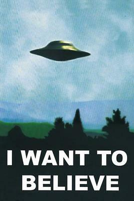 """""""I Want To Believe"""" Poster UFO 61 x 91,5 cm"""