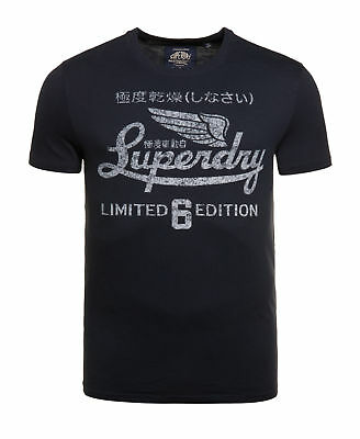 New Mens Superdry Limited Icarus T-Shirt Frontier Navy