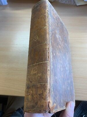 1801 Law Reports Of Cases In Court Kings Bench Large Heavy Leather Book