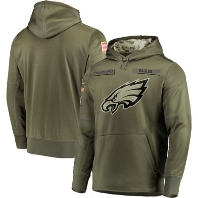 2018 Philadelphia Eagles Salute to Service Sideline Therma Pullover Hoodie