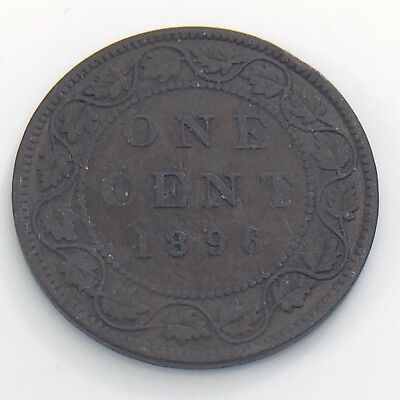 1896 Canada 1 One Large Cent Penny Circulated Canadian Copper Coin H958