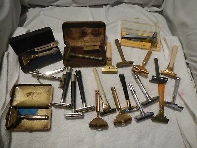 Lot 22 Vintage Mixed Safety Razors