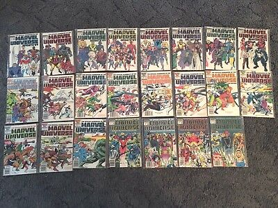Comic Lot Of 23 The Official Handbook Of The Marvel Universe Update 89 & Deluxe