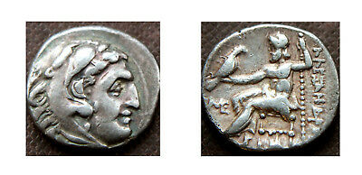ALEXANDER THE GREAT - DRACHM, Rev. ZEUS SEATED (336-323 BC)